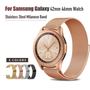 20mm 22mm Width Stainless Steel Band for Samsung Galaxy Watch 42mm 46mm Milanese Wristband Metal Magnetic Release Strap