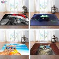 23 Kinds Cats 3D Printed Large Carpets Friendly Cat Living Room Decoration Bedroom Parlor Tea Table Area Rug Mat Soft Flannel