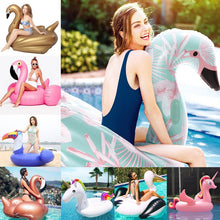 24 Style Giant Flamingo Unicorn Inflatable Float Ride-on Duck Swan Air Mattress For Baby&Child&Adult Pool Party Toys Lounge boia