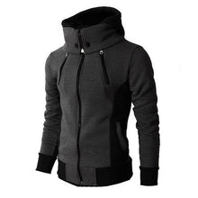 Men's High-Necked Hooded Jacket