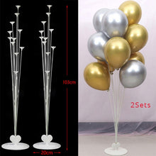 2set 14 Tubes Balloon Holder Balloons Stand Column Confetti Balloon Kids Birthday Party Baby Shower Wedding Decoration Supplies - ShopeeShipee