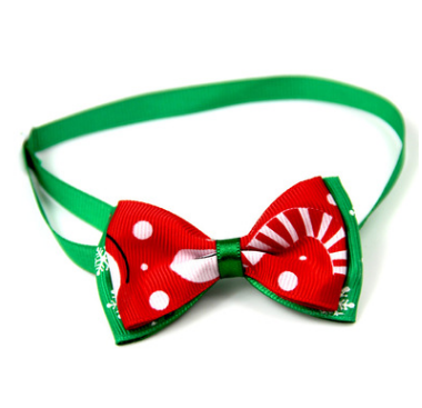 1 Pieces Cute Christmas Pet Supplies Handmade Ribbon Dog Bow Ties 8 Colors Cat Neck Tie Dog Accessories - ShopeeShipee