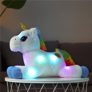 40cm LED Plush Light Up Toys Unicorn Stuffed Animals Plush Toys Cute Pony Horse Toy Soft Doll Kids Toys Christmas Birthday Gifts