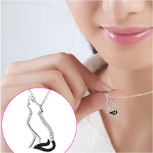 Men Necklace 2018 925 Sterling Silver Necklace Fashion Jewelry Black White Cubic Zirconia Wolf Pendants Necklaces Women Jewelry