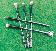 Generation/Second Generation Alloy Handle Harry Potter Magic Wand Wand Makeup Brush Set 5 Piece Set Beauty Tools