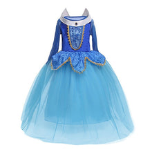 5 6 7 8 9 10 Years Girls Dress Halloween Cosplay Sleeping Beauty Princess Dresses Christmas Costume Party Children Kids Clothing