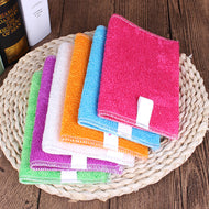 5 Pcs Kitchen Anti-grease wipping rags efficient Bamboo Fiber Cleaning Cloth home washing dish Multifunctional Cleaning Tools
