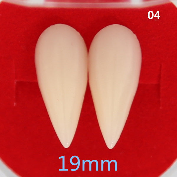 horrific vampire teeth halloween party denture props zombie devil fangs tooth xh