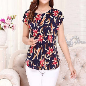5XL women summer tops tees ladies short t shirt Women's Boat anchor t-shirt Silk female tshirt woman clothes plus size