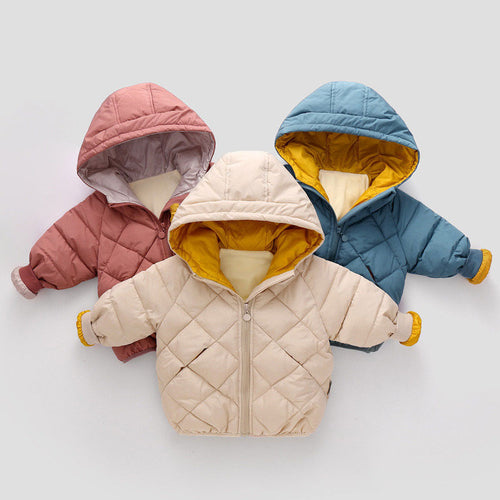 Girls Winter Coats Jackets  Autumn Boys Hooded Jackets Long Sleeve Diamond Toddler Boys Jacket Kids Children Parka Outerwear - ShopeeShipee