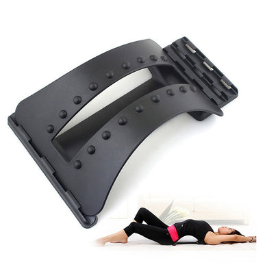 Back Massage Magic Stretcher Fitness Equipment Stretch Relax Mate Stretcher Lumbar Support Spine Pain Relief Chiropractic - ShopeeShipee