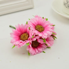 6pcs handmade gerbera fashion home garden bride diy wreath material wedding banquet decoration artificial flower scissors crown