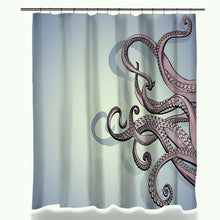 Miracille Waterproof 3D Octopus Printed Polyester Bath Shower Curtain Sets Bathroom Carpet Accessories with 12 Plastic Hooks - ShopeeShipee