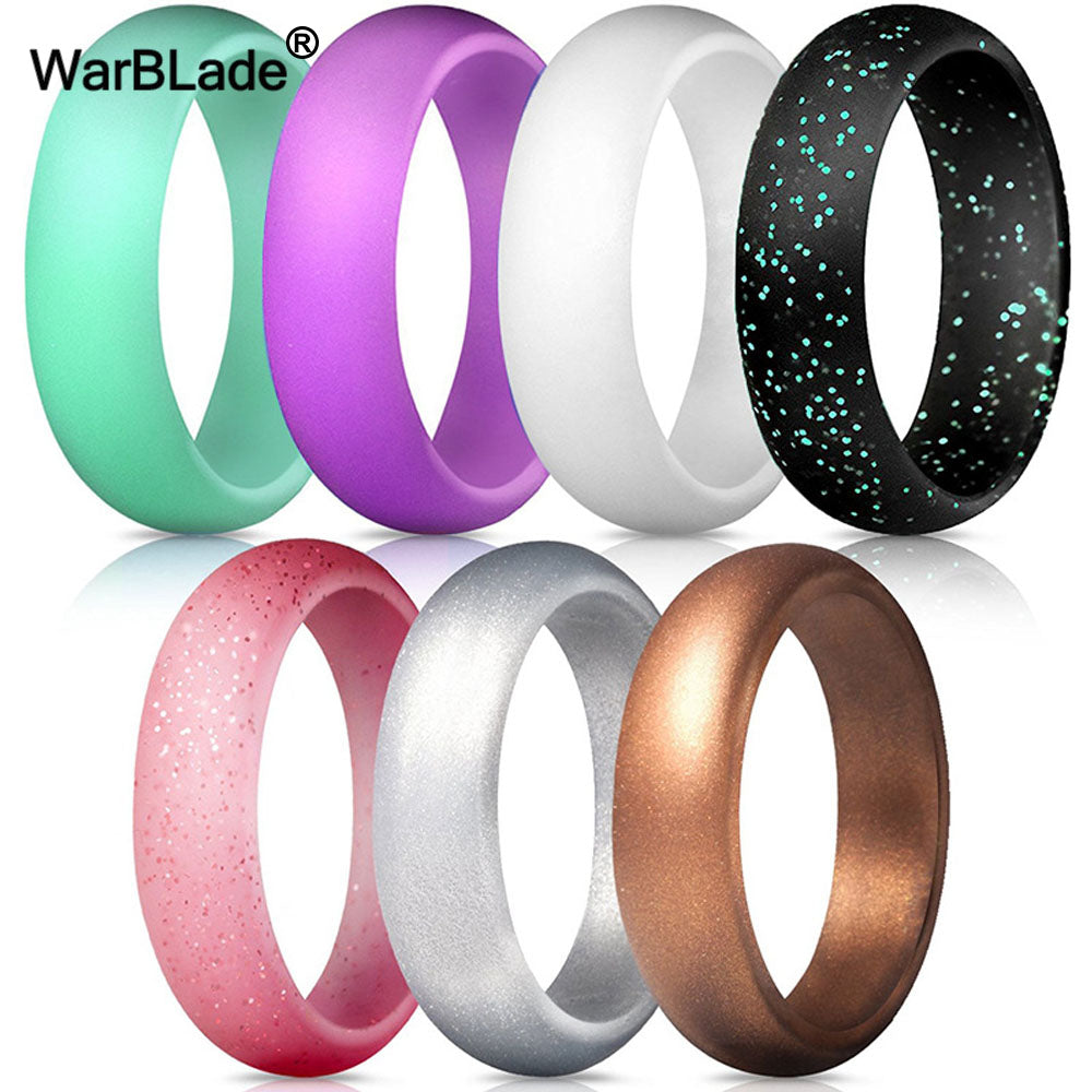 7pcs/set 4-10 Size Food Grade FDA Silicone Finger Ring 5.7mm Hypoallergenic Crossfit Flexible Sports Rubber Rings For Men Women - ShopeeShipee