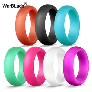 7pcs/set 4-10 Size Food Grade FDA Silicone Finger Ring 5.7mm Hypoallergenic Crossfit Flexible Sports Rubber Rings For Men Women