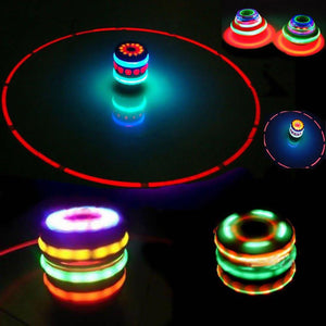 Music Gyro Peg-Top Spinning Top Brinquedo Funny Kids Toy Classic UFO Gyroscope Laser Color Flash LED Light Birthday Gift - ShopeeShipee
