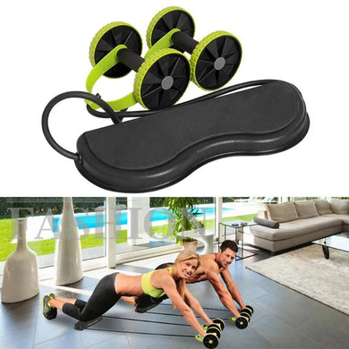ABS Wheel Roller Men Women Fitness Muscle Trainer Fitness Equipment