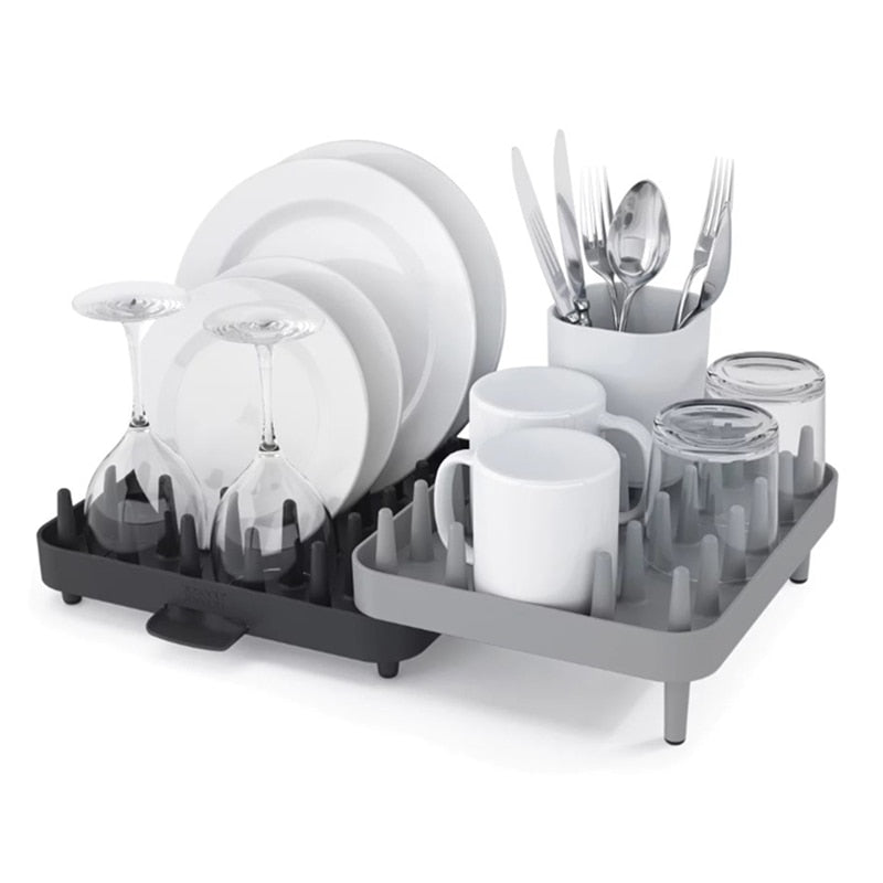 Adjustable Tableware Dish Drain Storage Rack Organizer Multi-Function Home Kitchen Bathroom Sundries Cup Storage Rack