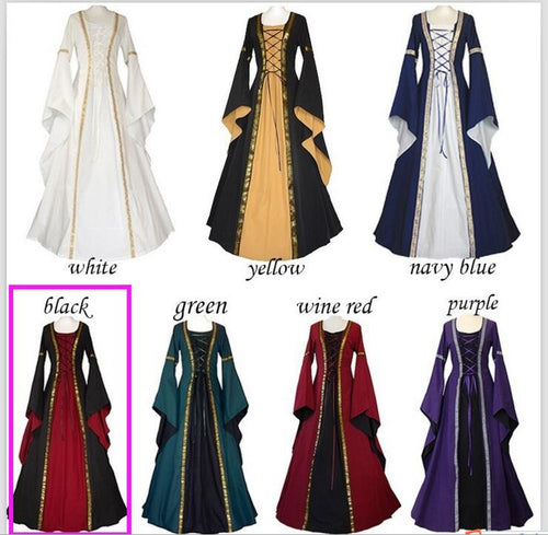 Adult Medieval Renaissance Victorian Dress Costume Halloween Lolita Cosplay Ball Gown Dresses for Women S-3XL - ShopeeShipee