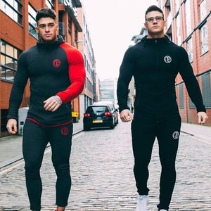 Autumn New Mens Skinny Hoodies Sweatshirts Male Gyms Fitness Bodybuilding Joggers Sportswear Casual Fashion Cotton Zipper Jacket - ShopeeShipee