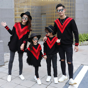 Autumn and winter mommy and me christmas sweaters family daddy daughter shirts and daughter clothes father son matching outfits - ShopeeShipee