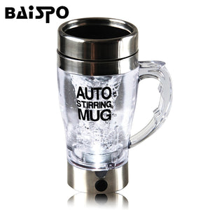 Self Stirring Mug Automatic Electric Lazy Automatic Coffee Mixing Tea Mix Cup Travel Mug Double Insulated thermal Cup