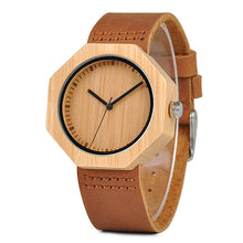 BOBO BIRD Lady Wood Watches Leather Strap Quartz Wristwatches Casual Men Bamboo Watch Timepieces - ShopeeShipee