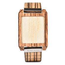 BOBO BIRD Wooden Set Led Watch Men Classic Rectangle Shape Digital Wristwatch with Toucn Screen Q25 - ShopeeShipee