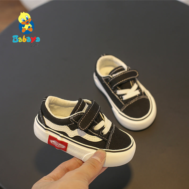 Babaya Baby Shoes Soft Bottom Baby Boy Casual Shoes 1-3 Years Old 2019 Spring Children Canvas Shoes Girls Walking Shoes Toddler