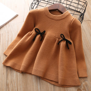 Baby Fall Dress for Girls Toddler Sweater Tops kids autumn knitted Clothes thick Dresses Teens Cute Christmas Shirt 1 2 3 years
