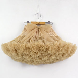 Baby Girls Tutu Skirt Fluffy Children Ballet Kids Pettiskirt Baby Girl Skirts Big Bow Tulle Party Dance Skirts for Girls Cheap