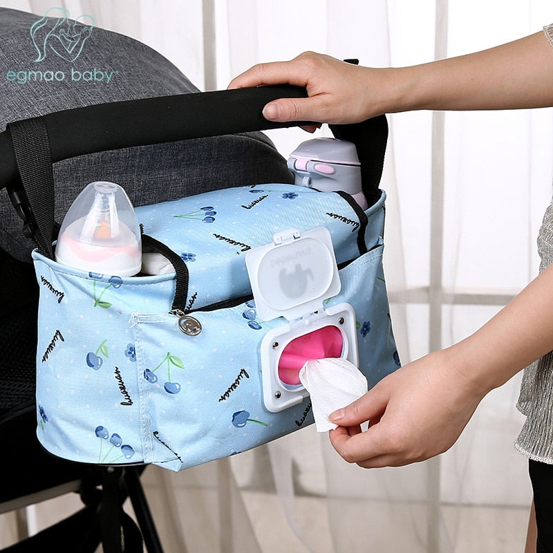 Baby Stroller Bags Large Capacity Mummy Nappy Bag Multifunction Travel Diaper Bag Maternity Nursing Hanging Storage Bag - ShopeeShipee