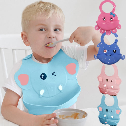 Baby Stuff Waterproof Silicone Bib Feeding Baby Newborn Cartoon Aprons Adjustable Baby Bibs Burp Cloths Bandana Bibs Baby Bibs - ShopeeShipee