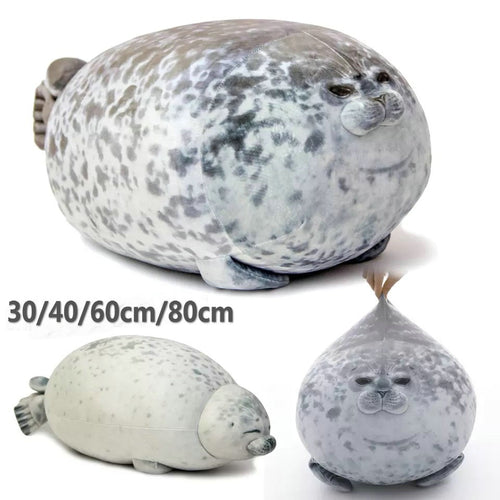 3D Novelty Seal Plush Toys Sea Lion Stuffed Throw Pillow Soft Seal Plush Party Hold Pillow Baby Sleeping Pillow Chair Cushion - ShopeeShipee