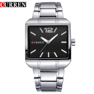 CURREN 8132 Men New Fashion Sports Watches, Quartz Analog Man Business Quality All Steel Watch 3 ATM Waterproof