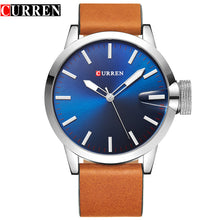 CURREN luxury top brand new fashion black quartz men's watch leather strap montre homme Wrist Sports  Military Army Relogio 8208