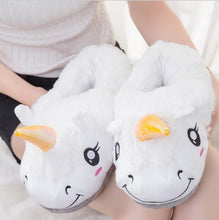 Cartoon Home Slippers For Men&Women Warm Soft PP Cotton Plush Indoor Unicorn Lovely House Shoes unicornio licorne Fit Cosplay ZL