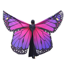 Chamsgend Women Girls No Sticks Soft Large Butterfly Wings Shawl Pashmina Fairy Lady Dance show Cosplay Costume Accessory 80117