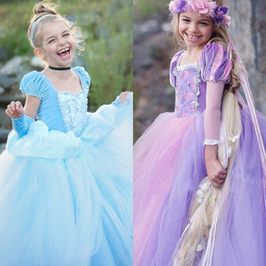 Children Fantasia Menina Fancy Party Dress Role Princess Costumes Dress up Kids Girls Cosplay Holiday Cartoon Fairy Clothing - ShopeeShipee