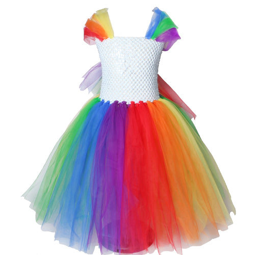 Children Girls Rainbow Tutu Dress Fancy Kids Princess Horse Party Dresses for Girls Christmas Halloween Pony Dress Up Costumes - ShopeeShipee