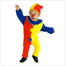 Children Kids Baby Boys Clown Cosplay Costume Jumpsuits & Rompers+Hat+Nose Halloween Performance Family Party