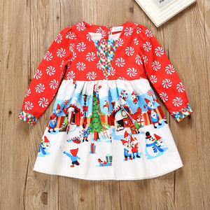 Christmas Dress For Baby Girls Kids Boy Vestidos Toddler Kids Baby Girls Cartoon Princess Party Dress Christmas Outfits Clothes