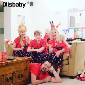 Christmas Matching Family Outfits New Year Mother Father Son Daughter Pajamas Mom and Baby Matches Matching Outfits - ShopeeShipee