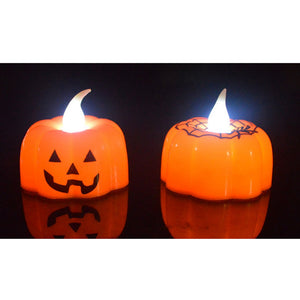 Classic Candle Lantern Pumpkin Design Small LED Durable Indoor Candle Lamp Candle Lantern Halloween Party Decoration