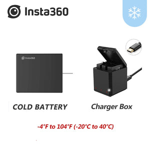 Cold-Weather Original Battery For Insta360 ONE X 1200mAh Battery Kits ONE X Micro USB Charger Hug Battery  In Stock Insta 360 - ShopeeShipee