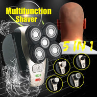 Compact Electric 5-Head Bald Head Shaver EU Standard Rechargeable Bald Hair Clipper IPX7 Mini Trimmer Razors