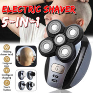 Compact Electric 5-Head Bald Head Shaver EU Standard Rechargeable Bald Hair Clipper IPX7 Mini Trimmer Razors Women Bikini Lines