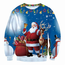 Covrlge Christmas Gift Sweatshirts Men 3d Hoodies Print Deer Carriage Christmas Father Santa Claus Oversized Mens Hoodies MWW076