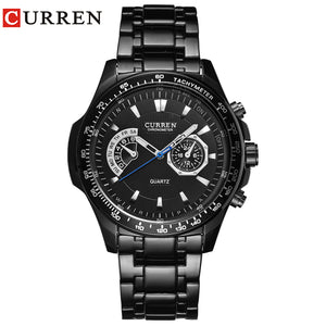 Curren quartz Black  Vogue Business Military Man Men's watches 3ATM waterproof Dropship 8020 Relogio