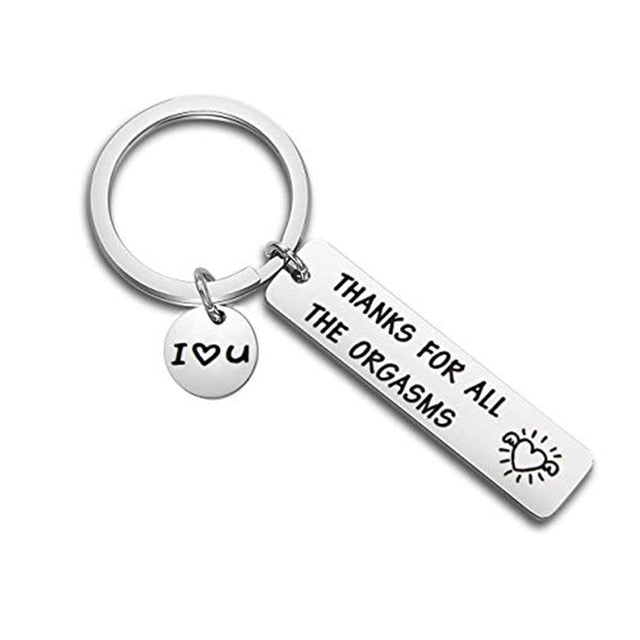 Thanks for All The Orgasms Couple Keychain for My Boyfriend or Husband